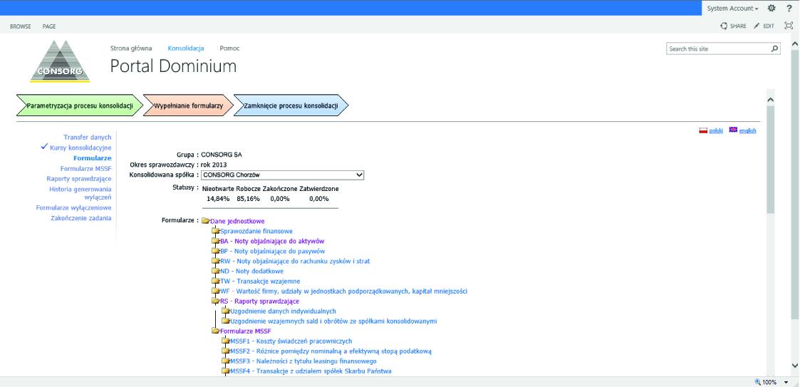 CONSORG Dominium CPM portal