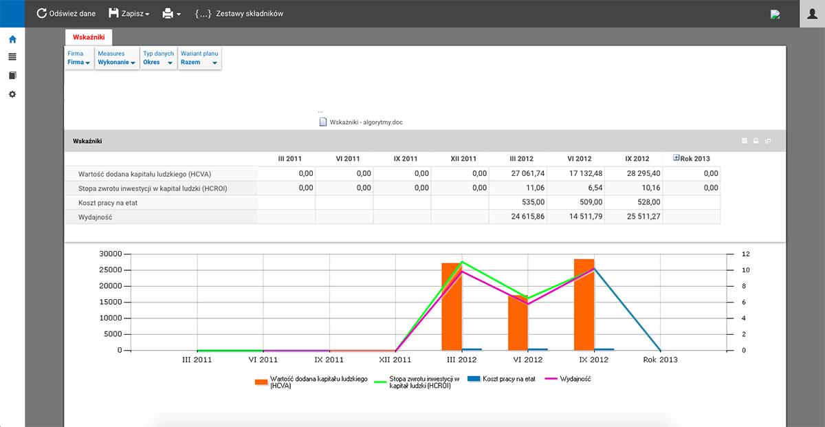 CONSORG HR business intelligence webStudio